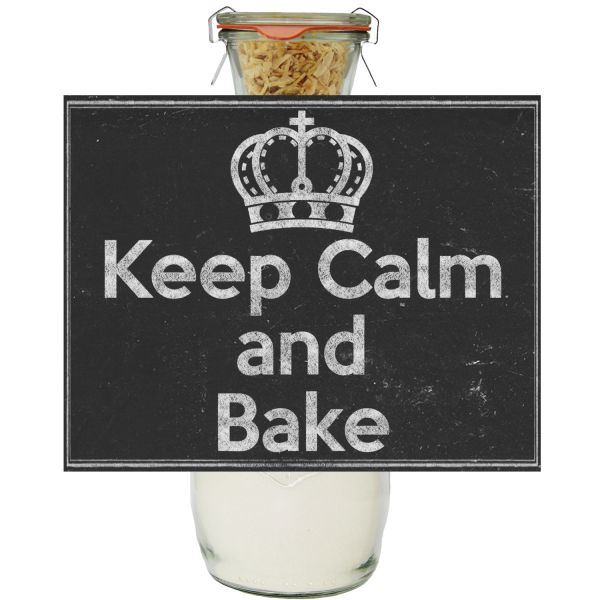 Keep Calm and Bake Brot Backmischung im Glas